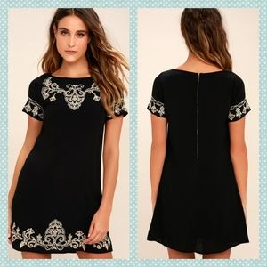 Lulu's Tale to Tell Embroidered Shift Dress